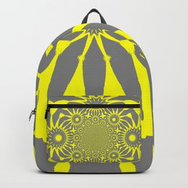 The Modern Flower Gray and Yellow Backpack