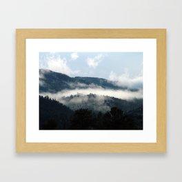 Foggy Mountain Morning Framed Art Print