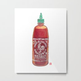 Sriracha Hot Sauce Metal Print