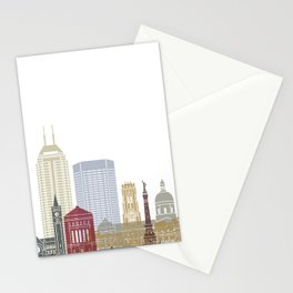 Indianapolis skyline poster Stationery Cards