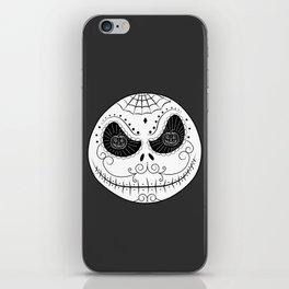 Jack's Skull Sugar (Vector Mexican Skull) iPhone Skin