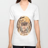 sleeping beauty V-neck T-shirts featuring Sleeping Beauty by lovesoup