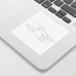Untitled Hands No. 3 Sticker
