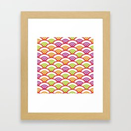 Seigaiha or seigainami literally means wave of the sea. Abstract japanese scales Framed Art Print