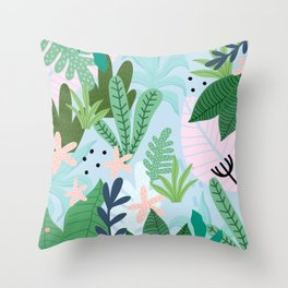 Into the jungle Throw Pillow
