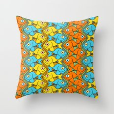 Something is Nicely Fishy Here! Throw Pillow