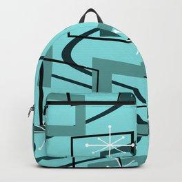 Mid Century Modern Minimalism Turquoise Backpack