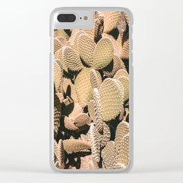 Cactus Maximalism // Vintage Bohemian Desert Photography Home Decor Summer Vibes Clear iPhone Case