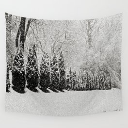 Snow Storm Wall Tapestry