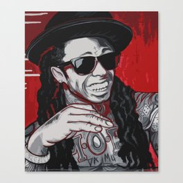 Red Weezy Canvas Print