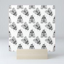 Moth Insect Pattern Pencil Drawing Mini Art Print
