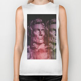 Abraham Lincoln colored Biker Tank