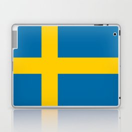 Flag of Sweden - Authentic (High Quality Image) Laptop & iPad Skin