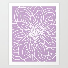 Abstract Flower Purple Lavender Art Print