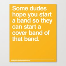 Cover Band Canvas Print