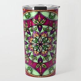 Garden Leaves Mandala Travel Mug