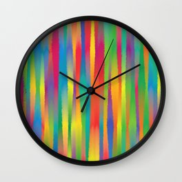 Paint Yourself In Stripe Wall Clock
