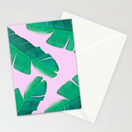 Banana Palm, muck and teal Stationery Cards