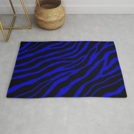 Ripped SpaceTime Stripes - Blue Rug