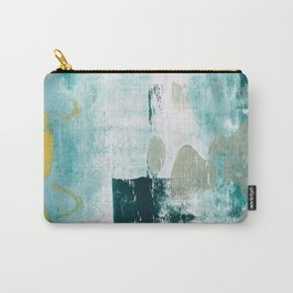 023.2: a vibrant abstract design in teal green and yellow by Alyssa Hamilton Art  Carry-All Pouch