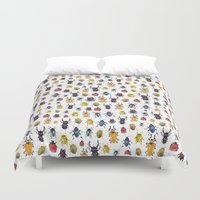 bugs Duvet Covers featuring Bugs by Marina Eiro