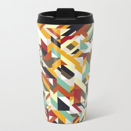 Native Geometric Metal Travel Mug