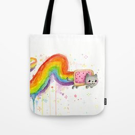 Rainbow Cat in Pop Tart Tote Bag