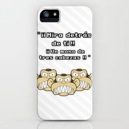 Ese mono de 3 cabezas iPhone Case