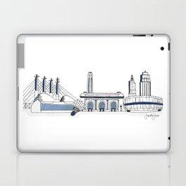 Kansas City Skyline Illustration in Sporting KC Colors Laptop & iPad Skin