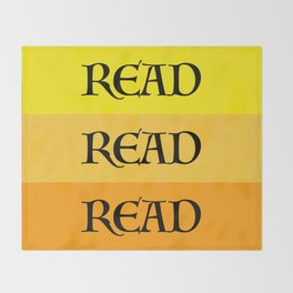 READ READ READ {YELLOW} Throw Blanket
