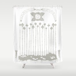 Tall pods - things of this nature Shower Curtain