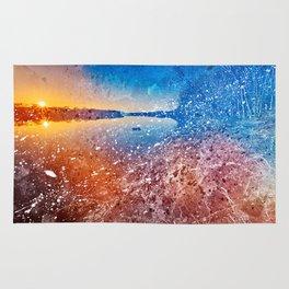 Acrylic Potomac Sunset Rug