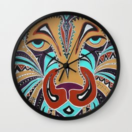 Aboriginal Lion Wall Clock