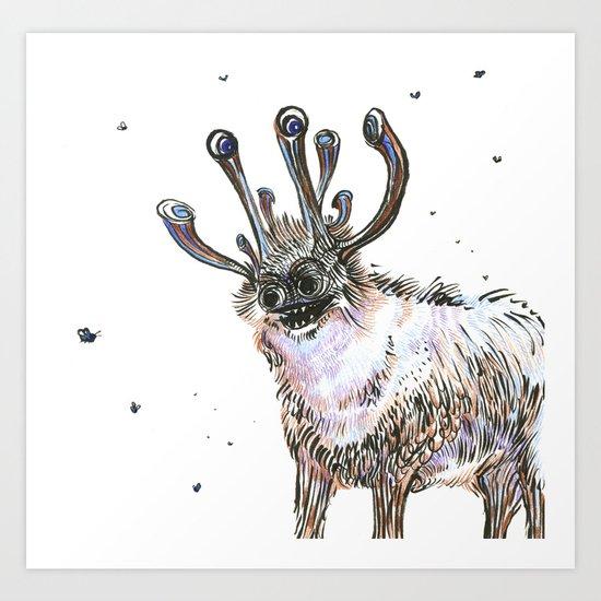 My Wildebeast Art Print