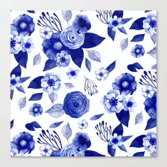 Flowers Print Canvas Print
