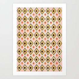 Vintage Ikat Pattern Art Print