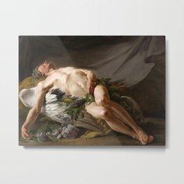 Morpheus by Jean-Bernard Restout (1771) Metal Print