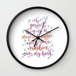 Coffee and Sunshine Wall Clock