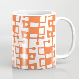 Mid Century Modern Abstract 213 Orange Coffee Mug