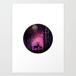Purple Dreamers Art Print