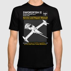 Swordfish Service and Repair Manual Mens Fitted Tee Black SMALL