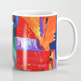 Metropolis Öl auf Leinwand Coffee Mug