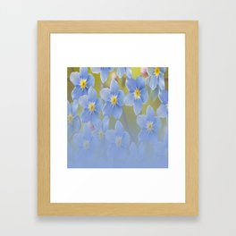 Forget-me-not flowers - summer beauty #society6 #buyart Framed Art Print