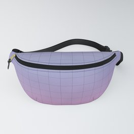 Pink and Purple Pastel Grid Aesthetic Fade Fanny Pack