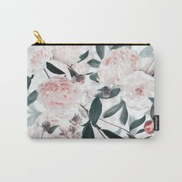 Blush Sepia Peony Flowers Garden Carry-All Pouch