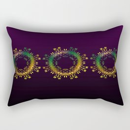 Fantasy Circle Pillow (purple) Rectangular Pillow