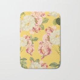 Flora temptation - sunny mustard Bath Mat