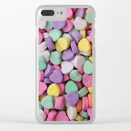 Sugar Hearts Clear iPhone Case