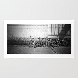 Ride The line Art Print