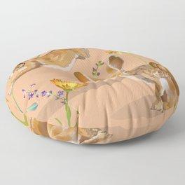 Jackrabbits Joy to Spring Floor Pillow